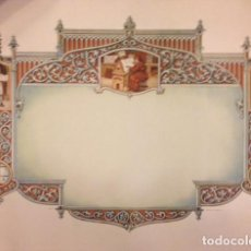 Documentos antiguos: ANTIGUO DIPLOMA EN BLANCO 49X34. Lote 71162721