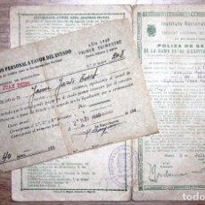 Documentos antiguos: POLIZA DE SEGURO DOTAL Y RECIBO DE PAGO 1940. Lote 71705971