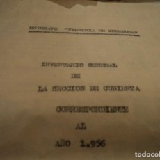 Documentos antiguos: INTERESANTE INVENTARIO GRAL. DE LA SECCION DE CUBIERTA DE MOTONAVE VIRGINIA DE CHURRUCA 1958 32 PAG.. Lote 72341111