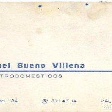Documentos antiguos: ** TS243 - TARJETA DE VISITA - RAFAEL B. V. - ELECTRODOMESTICOS - VALENCIA. Lote 73534171