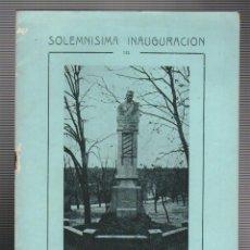 Documentos antiguos: GALICIA.CORUÑA.ORDENES. INAUGURACION DEL MONUMENTO AL PERIODISTA VICENTE CARNOTA 1926. Lote 74079911