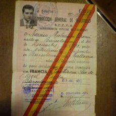 Documentos antiguos: SALVOCONDUCTO, PASO A FRANCIA. 1952. Lote 74198395