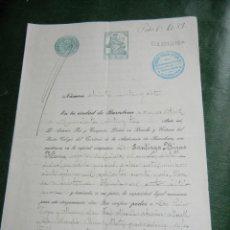 Documentos antiguos: ESCRITURA DE PODER NOTARIA ANTONIO PAR TUSQUETS 1923 . Lote 74225275
