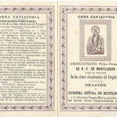 Documentos antiguos: OBRA EXPIATORIA.. Lote 74625407