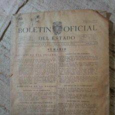 Documentos antiguos: BOLETIN OFICIAL DEL ESTADO, AÑO VI, 1941, Nº 205, GOBIERNO DE LA NACION (REF-1AC). Lote 74681451
