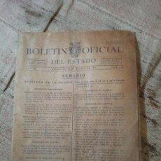 Documentos antiguos: BOLETIN OFICIAL DEL ESTADO, AÑO VI, 1941, Nº 232, GOBIERNO DE LA NACION (REF-1AC). Lote 74681563