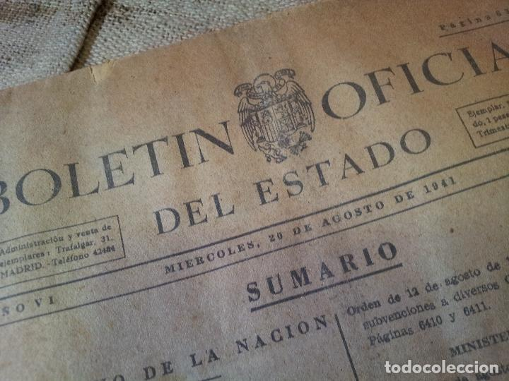 Documentos antiguos: boletin oficial del estado, año VI, 1941, nº 232, gobierno de la nacion (REF-1AC) - Foto 3 - 74681563