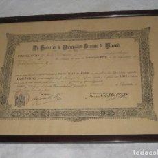 Documentos antiguos: DIPLOMA DE 1933 DE LA UNIVERSIDAD LITERARIA DE GRANADA. Lote 74742299