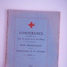 Documentos antiguos: CONFÉRENCE LIGUE DES SOCIÉTÉS DE LA CROIX-ROUGE, PARIS 1926. Lote 75023479