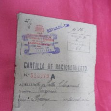 Documentos antiguos: CARTILLA DE RACIONAMIENTO. DELEGACION DE ABASTECIMIENTOS Y TRANSPORTES. BARCELONA. 1942... Lote 75128443