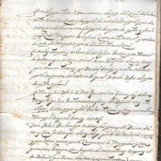 Documentos antiguos: CONJUNTO DE DOCUMENTOS RELATIVOS AL PUERTO DE TARRAGONA. 1728. PAGAROLAS. Lote 75494079