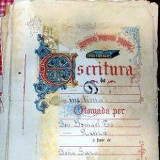 Documentos antiguos: ESCRITURA TOMELLOSO. 1912. DOCUMENTO COMPLETO. VER FOTOS . Lote 75586595