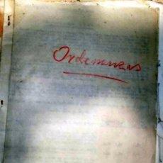 Documentos antiguos: ORDENANZAS AYUNTAMIENTO ALCAZAR DE SAN JUAN. DOCUMENTO COMPLETO. VER FOTOS . Lote 75586771