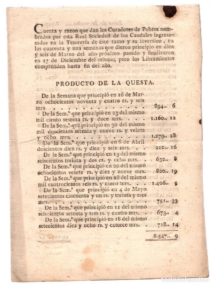 CUENTA Y RAZON QUE DAN LOS CURADORES DE POBRES. REAL SOCIEDAD CAUDALES. LEON AÑO 1818 (Coleccionismo - Documentos - Otros documentos)