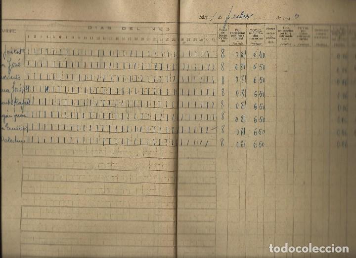 Documentos antiguos: LIBRO PAGO DE SALARIOS. - Foto 2 - 76042363