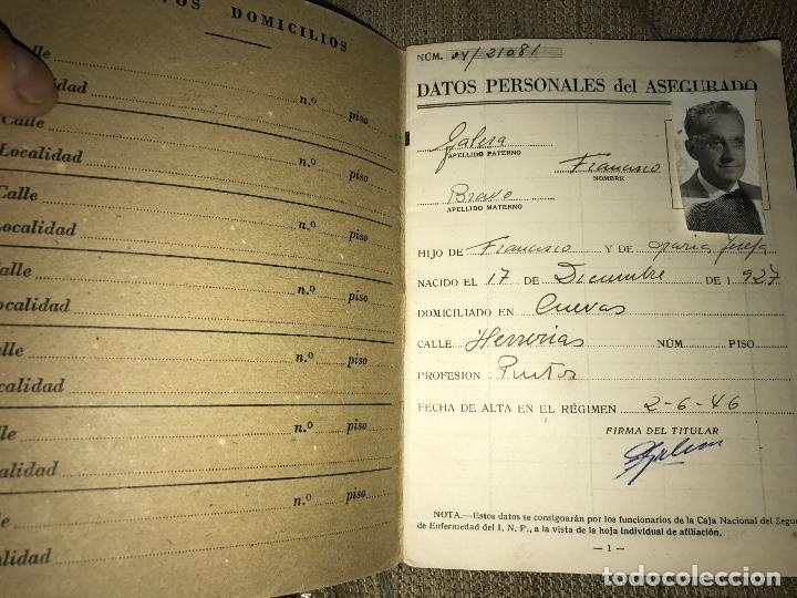 Documentos antiguos: ANTIGIA CARTILLA CAJA NACIONAL SEGURO ENFERMEDAD 1946 - Foto 2 - 76098679