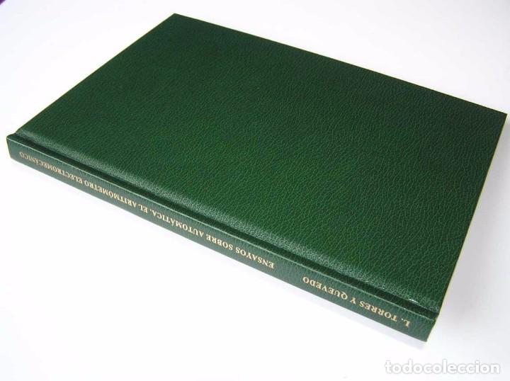 Documentos antiguos: L. TORRES QUEVEDO ENSAYOS SOBRE AUTOMÁTICA. EL ARITMÓMETRO ELECTROMECÁNICO - INTEMAC 1996 - Foto 2 - 76235959