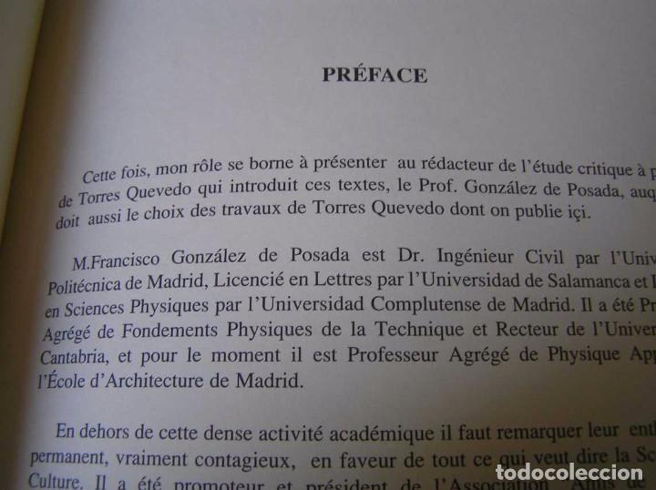 Documentos antiguos: L. TORRES QUEVEDO ENSAYOS SOBRE AUTOMÁTICA. EL ARITMÓMETRO ELECTROMECÁNICO - INTEMAC 1996 - Foto 15 - 76235959