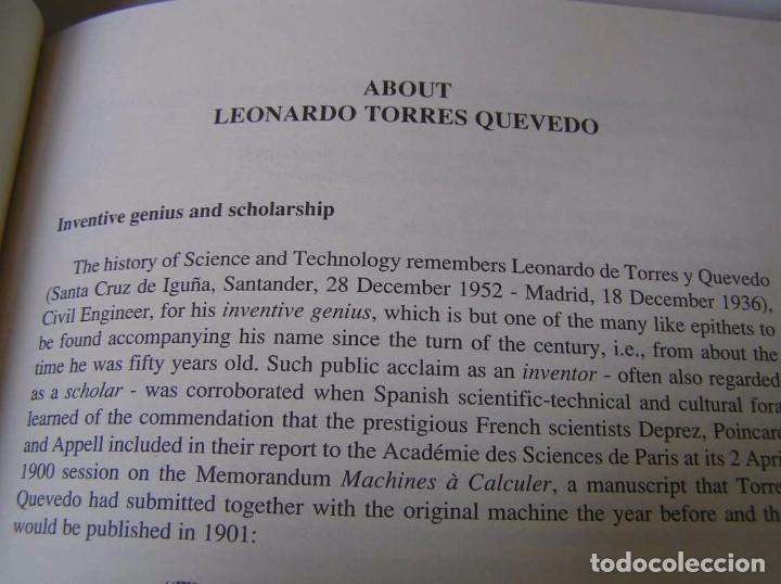 Documentos antiguos: L. TORRES QUEVEDO ENSAYOS SOBRE AUTOMÁTICA. EL ARITMÓMETRO ELECTROMECÁNICO - INTEMAC 1996 - Foto 18 - 76235959