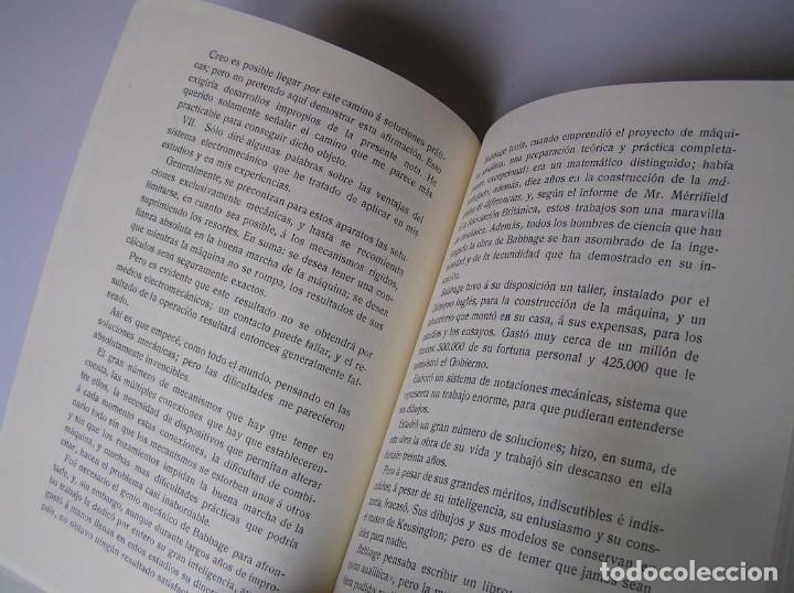 Documentos antiguos: L. TORRES QUEVEDO ENSAYOS SOBRE AUTOMÁTICA. EL ARITMÓMETRO ELECTROMECÁNICO - INTEMAC 1996 - Foto 20 - 76235959