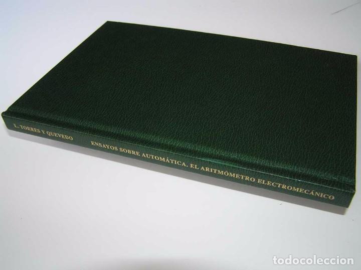Documentos antiguos: L. TORRES QUEVEDO ENSAYOS SOBRE AUTOMÁTICA. EL ARITMÓMETRO ELECTROMECÁNICO - INTEMAC 1996 - Foto 31 - 76235959