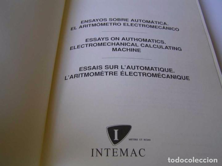 Documentos antiguos: L. TORRES QUEVEDO ENSAYOS SOBRE AUTOMÁTICA. EL ARITMÓMETRO ELECTROMECÁNICO - INTEMAC 1996 - Foto 34 - 76235959