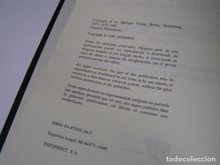 Documentos antiguos: L. TORRES QUEVEDO ENSAYOS SOBRE AUTOMÁTICA. EL ARITMÓMETRO ELECTROMECÁNICO - INTEMAC 1996 - Foto 36 - 76235959