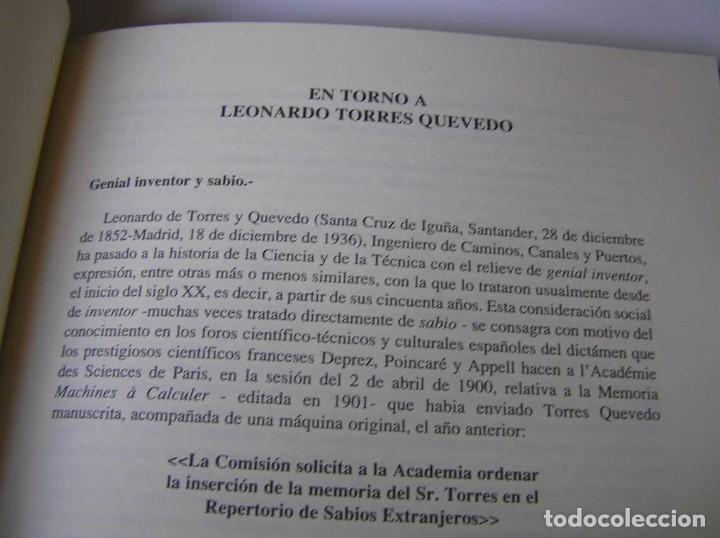 Documentos antiguos: L. TORRES QUEVEDO ENSAYOS SOBRE AUTOMÁTICA. EL ARITMÓMETRO ELECTROMECÁNICO - INTEMAC 1996 - Foto 55 - 76235959
