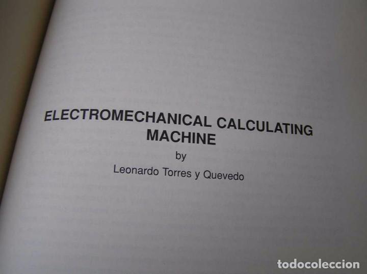 Documentos antiguos: L. TORRES QUEVEDO ENSAYOS SOBRE AUTOMÁTICA. EL ARITMÓMETRO ELECTROMECÁNICO - INTEMAC 1996 - Foto 56 - 76235959