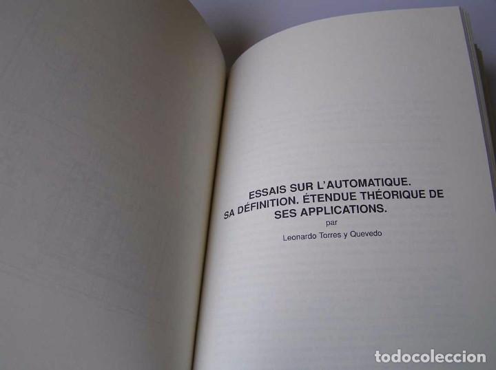 Documentos antiguos: L. TORRES QUEVEDO ENSAYOS SOBRE AUTOMÁTICA. EL ARITMÓMETRO ELECTROMECÁNICO - INTEMAC 1996 - Foto 59 - 76235959