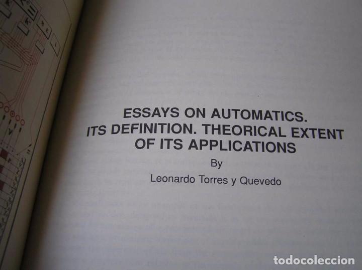 Documentos antiguos: L. TORRES QUEVEDO ENSAYOS SOBRE AUTOMÁTICA. EL ARITMÓMETRO ELECTROMECÁNICO - INTEMAC 1996 - Foto 60 - 76235959