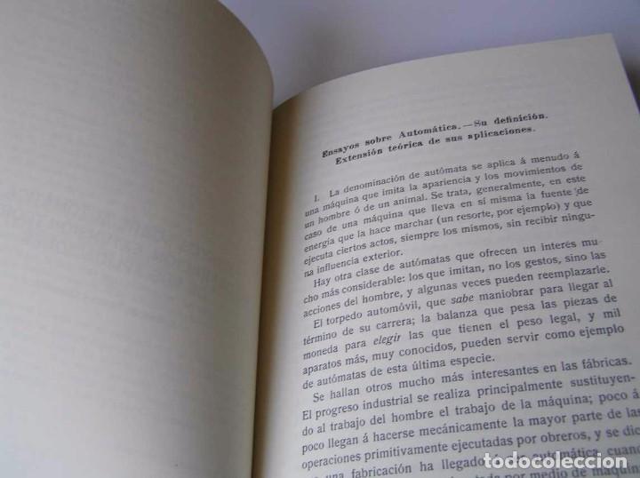 Documentos antiguos: L. TORRES QUEVEDO ENSAYOS SOBRE AUTOMÁTICA. EL ARITMÓMETRO ELECTROMECÁNICO - INTEMAC 1996 - Foto 63 - 76235959