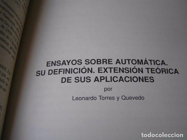 Documentos antiguos: L. TORRES QUEVEDO ENSAYOS SOBRE AUTOMÁTICA. EL ARITMÓMETRO ELECTROMECÁNICO - INTEMAC 1996 - Foto 64 - 76235959
