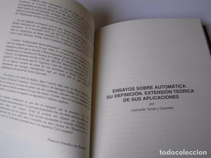 Documentos antiguos: L. TORRES QUEVEDO ENSAYOS SOBRE AUTOMÁTICA. EL ARITMÓMETRO ELECTROMECÁNICO - INTEMAC 1996 - Foto 65 - 76235959