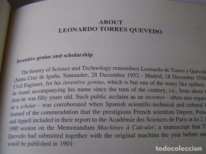 Documentos antiguos: L. TORRES QUEVEDO ENSAYOS SOBRE AUTOMÁTICA. EL ARITMÓMETRO ELECTROMECÁNICO - INTEMAC 1996 - Foto 66 - 76235959