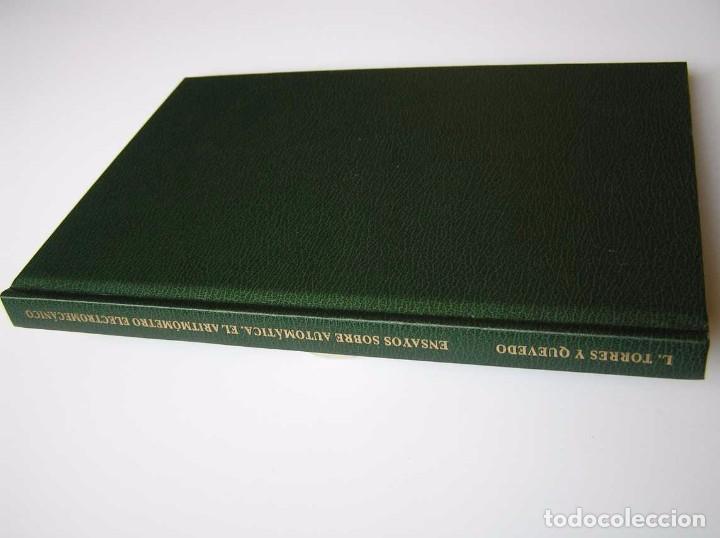 Documentos antiguos: L. TORRES QUEVEDO ENSAYOS SOBRE AUTOMÁTICA. EL ARITMÓMETRO ELECTROMECÁNICO - INTEMAC 1996 - Foto 73 - 76235959