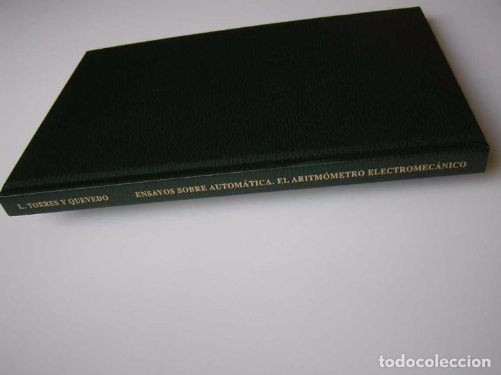 Documentos antiguos: L. TORRES QUEVEDO ENSAYOS SOBRE AUTOMÁTICA. EL ARITMÓMETRO ELECTROMECÁNICO - INTEMAC 1996 - Foto 74 - 76235959