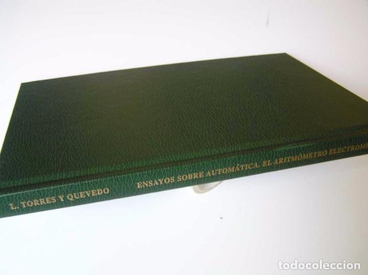 Documentos antiguos: L. TORRES QUEVEDO ENSAYOS SOBRE AUTOMÁTICA. EL ARITMÓMETRO ELECTROMECÁNICO - INTEMAC 1996 - Foto 80 - 76235959