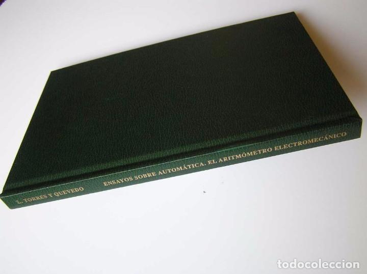 Documentos antiguos: L. TORRES QUEVEDO ENSAYOS SOBRE AUTOMÁTICA. EL ARITMÓMETRO ELECTROMECÁNICO - INTEMAC 1996 - Foto 83 - 76235959