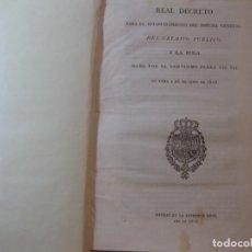 Documentos antiguos: DECRETO PARA EL ESTABLECIMIENTO DEL SISTEMA GENERAL DEL CRÉDITO PÚBLICO Y BULA PAPAL DE 26-06-1818. Lote 76631011