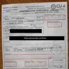 Documentos antiguos: CONTRIBUCIÓN URBANA. SANTIAGO DE LA RIBERA. SAN JAVIER. MURCIA, 1987 (CON FOTO DE LA VIVIENDA).. Lote 76714303