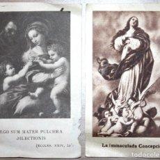 Documentos antiguos: TARJETAS RELIGIOSAS ESTAMPAS IMMACULADA CONCEPCIÓN. Lote 76715511