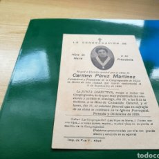 Documentos antiguos: CONGREGACIÓN DE HIJAS DE MARÍA DE NOVELDA (ALICANTE). Lote 76756475