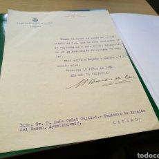 Documentos antiguos: RARO DOCUMENTO FIRMADO. AYUNTAMIENTO DE VALENCIA. 1939. AÑO DE LA VICTORIA. Lote 76761365