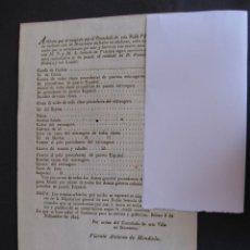 Documentos antiguos: ARBITRIOS COBRADOS POR EL CONSULADO DE BILBAO POR LAS IMPORTACIONES DEL PUERTO DE BILBAO. AÑO 1824.. Lote 77307417