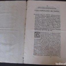 Documentos antiguos: INSTRUCCIONES PARA LOS CAPELLANES DE TIERRA. AÑO 1784.. Lote 77309465
