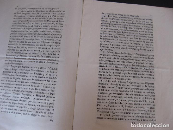 Documentos antiguos: Instrucciones para los capellanes de tierra. Año 1784. - Foto 2 - 77309465