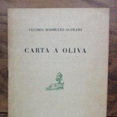 Documentos antiguos: CARTA A OLIVA. CESÁREO RODRÍGUEZ-AGUILERA. SOBRETIRO DE LOS PAPELES DE SON ARMADANS. 1971. DEDICADO.. Lote 77310009