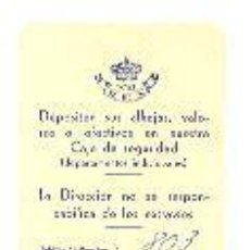 Documentos antiguos: TARJETA CLIENTE HOTEL REX. HABITACIÓN 803. 18 MAYO 1962. 8X5 CM. ENVÍO: 1,30 € *.. Lote 20386630
