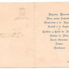 Documentos antiguos: MENU SOCIEDAD BILBAINA 1927. Lote 77412437